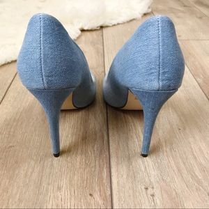 Cape Robbin Shoes - Cape Robbin Distressed Denim Pointed Toe Pumps 7
